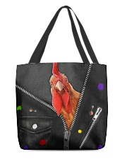 Chicken -  Zip - All Tote All-over Tote back