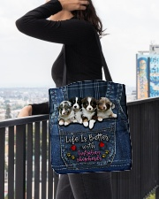 Australian Shepherd Life Is Bettter All-over Tote aos-all-over-tote-lifestyle-front-05