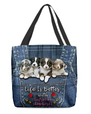 Australian Shepherd Life Is Bettter All-over Tote back