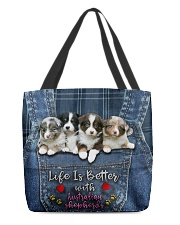 Australian Shepherd Life Is Bettter All-over Tote front
