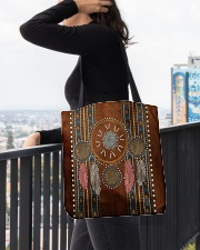 Native Blood Pride Dreamcatcher All-over Tote aos-all-over-tote-lifestyle-front-05