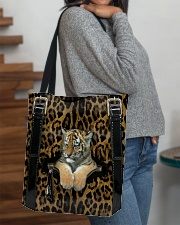 Tiger - Leopard - Zip Pocket All-over Tote aos-all-over-tote-lifestyle-front-09