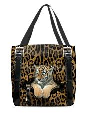 Tiger - Leopard - Zip Pocket All-over Tote front