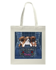 Boxer Life Is Better Tote Bag tile