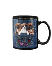 Boxer Life Is Better Mug tile