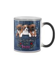 Boxer Life Is Better Color Changing Mug tile