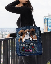 Boxer Life Is Better All-over Tote aos-all-over-tote-lifestyle-front-05