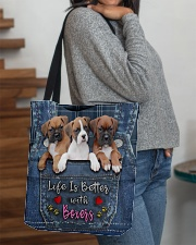 Boxer Life Is Better All-over Tote aos-all-over-tote-lifestyle-front-09