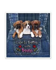 Boxer Life Is Better Sticker tile