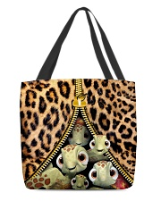 Turtle Funny Leopard All-over Tote All-over Tote back