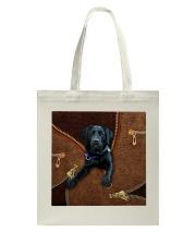 Black Labrador Tote Bag tile
