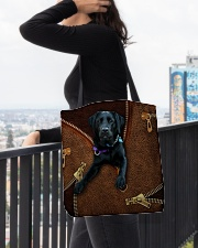 Black Labrador All-over Tote aos-all-over-tote-lifestyle-front-05