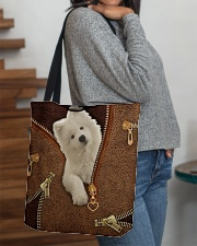 Samoyed   All-over Tote aos-all-over-tote-lifestyle-front-09