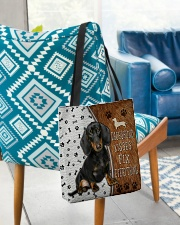 Dachshund Kisses Fix Everything Bag All-over Tote aos-all-over-tote-lifestyle-front-01
