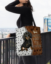 Dachshund Kisses Fix Everything Bag All-over Tote aos-all-over-tote-lifestyle-front-05