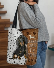 Dachshund Kisses Fix Everything Bag All-over Tote aos-all-over-tote-lifestyle-front-09