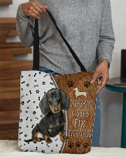 Dachshund Kisses Fix Everything Bag All-over Tote aos-all-over-tote-lifestyle-front-10