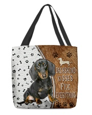 Dachshund Kisses Fix Everything Bag All-over Tote back