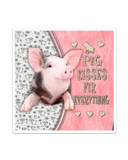 Pig Kisses Fix Everything Bag Sticker - Single (Vertical) thumbnail