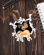 Sloth Crack V2 Sticker - Single (Vertical) aos-sticker-single-vertical-lifestyle-front-05