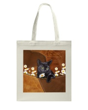 Black Cat Daisy Patchwork Tote Bag thumbnail