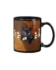 Black Cat Daisy Patchwork Mug thumbnail