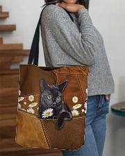 Black Cat Daisy Patchwork All-over Tote aos-all-over-tote-lifestyle-front-09