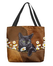 Black Cat Daisy Patchwork All-over Tote front