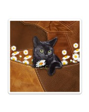 Black Cat Daisy Patchwork Sticker - Single (Vertical) thumbnail