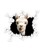 Llama Crack Sticker - Single (Vertical) front