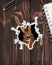 Bengal Cat Crack Sticker - Single (Vertical) aos-sticker-single-vertical-lifestyle-front-05