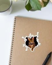 Bengal Cat Crack Sticker - Single (Vertical) aos-sticker-single-vertical-lifestyle-front-16
