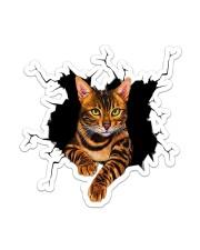Bengal Cat Crack Sticker - Single (Vertical) front
