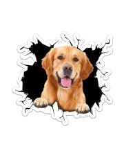 Golden Retriever Crack Sticker - Single (Vertical) front