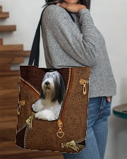 Bearded Collie  All-over Tote aos-all-over-tote-lifestyle-front-09