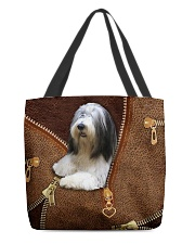 Bearded Collie  All-over Tote front