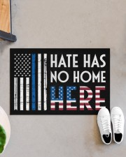 """Police America Hate Has No Home Here Doormat 22.5"""" x 15""""  aos-doormat-22-5x15-lifestyle-front-07"""