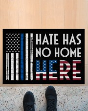 """Police America Hate Has No Home Here Doormat 22.5"""" x 15""""  aos-doormat-22-5x15-lifestyle-front-10"""