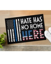 """Police America Hate Has No Home Here Doormat 22.5"""" x 15""""  aos-doormat-22-5x15-lifestyle-front-11"""