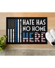 """Police America Hate Has No Home Here Doormat 22.5"""" x 15""""  aos-doormat-22-5x15-lifestyle-front-12"""