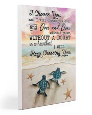 Turtle - I Choose You Gallery Wrapped Canvas Prints tile