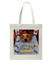Just A Girl Who Loves Dachshund Leather  Tote Bag tile