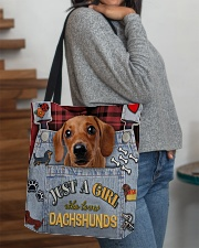 Just A Girl Who Loves Dachshund Leather  All-over Tote aos-all-over-tote-lifestyle-front-09