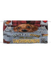 Just A Girl Who Loves Dachshund Leather  Mask tile