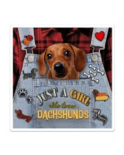 Just A Girl Who Loves Dachshund Leather  Sticker tile
