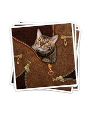 Cat  Sticker - 4 pack (Vertical) thumbnail
