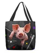 Pig - Zip - All - Tote  All-over Tote back