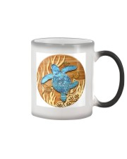 Sea Turtle - Blue Circle Ornament Color Changing Mug thumbnail