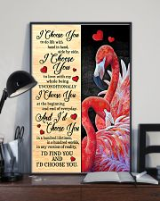 Flamingo - I Choose You Poster 11x17 Poster lifestyle-poster-2