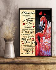 Flamingo - I Choose You Poster 11x17 Poster lifestyle-poster-3